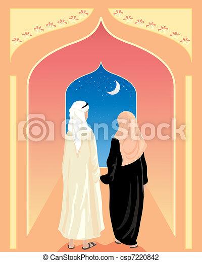 arabic couple - csp7220842