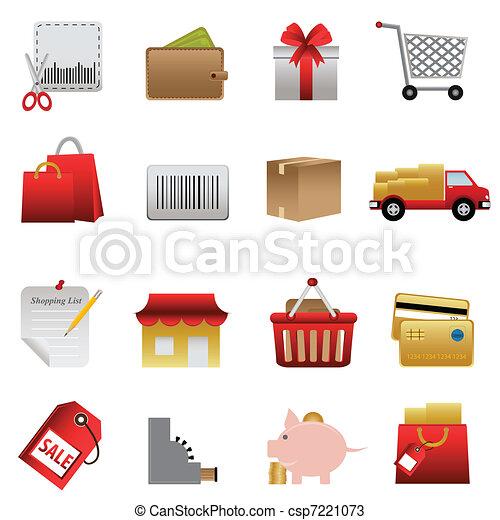 Shopping related icon set - csp7221073
