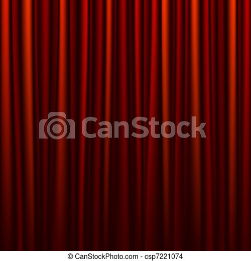 Seamless red curtain - csp7221074