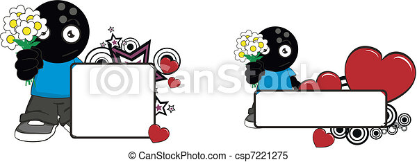 bowling kid cartoon copyspace5 - csp7221275
