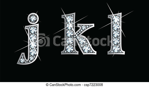 Diamond j, k, and l in lower case - csp7223008