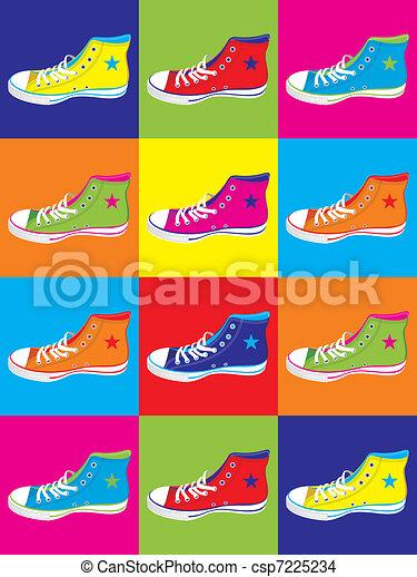 Teenager sneakers background - csp7225234