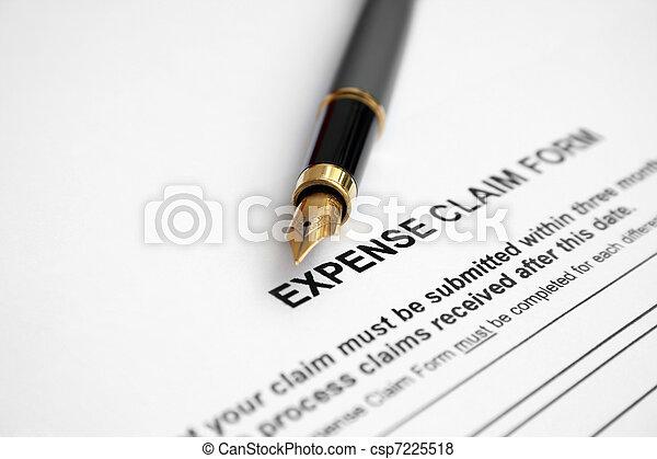 Expense claim form  - csp7225518