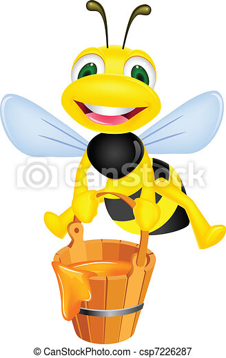 Bee with honey - csp7226287