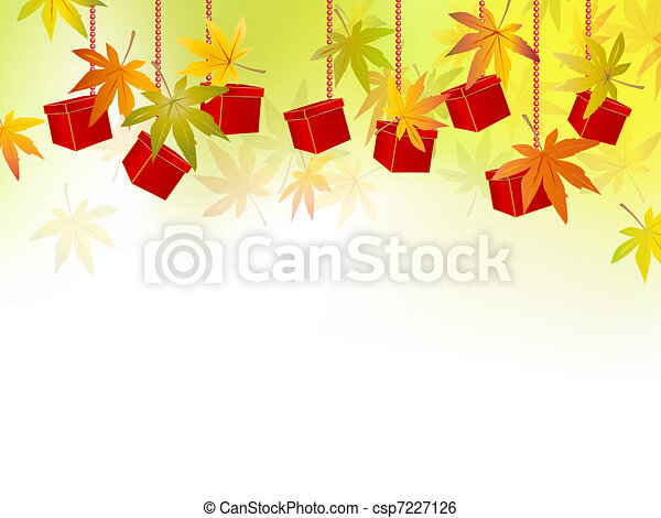 Fall, autumn leaves, season sale - csp7227126