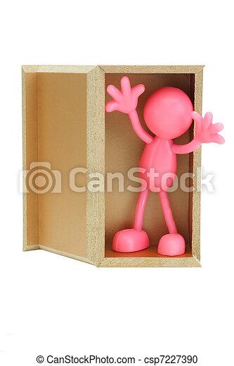 Faceless figurine surprise appearance - csp7227390