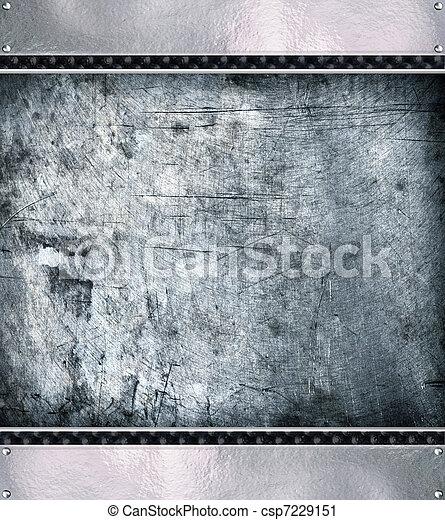 Metal plate steel background. - csp7229151