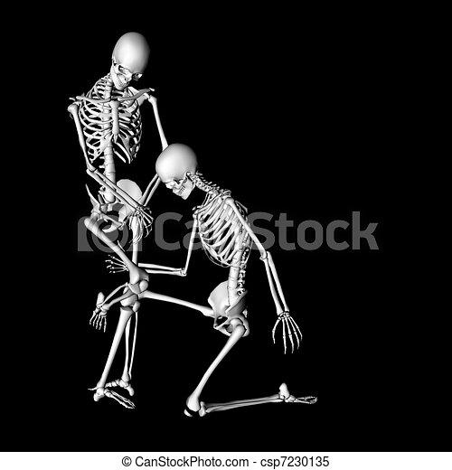 Clip vidéo de squelettes sexuels