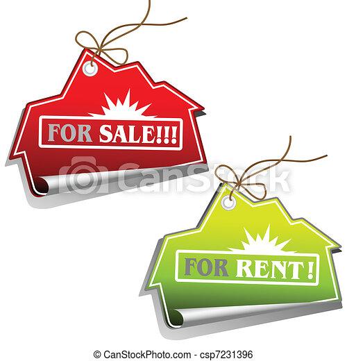 Real Estate Sales Tags - csp7231396