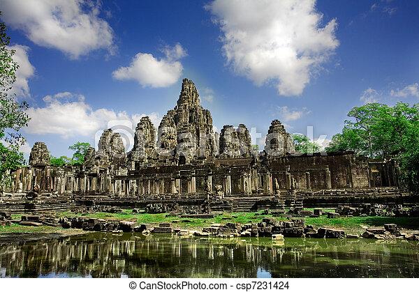 Cambodian temple ruins - csp7231424