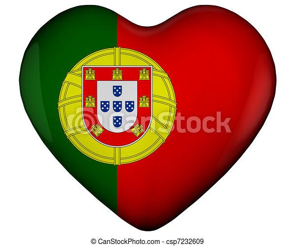 Illustration de coeur drapeau portugal illustration de coeur csp7232609 - Dessin drapeau portugal ...
