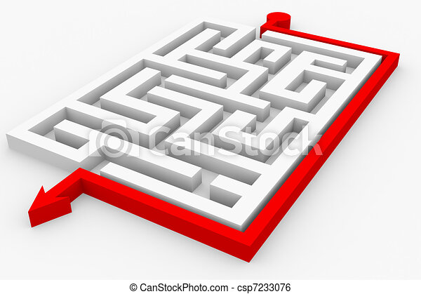 Path across labyrinth - csp7233076