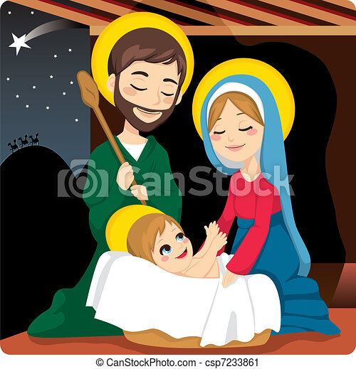 Nativity Scene - csp7233861