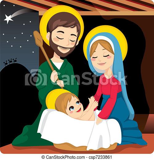 Nativity Scene - csp7233861