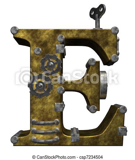 steampunk letter e - csp7234504