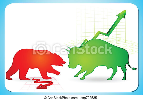 Bullish and Bearish market - csp7235351