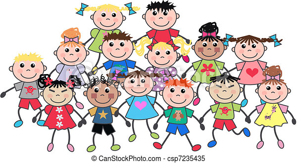 happy children - csp7235435