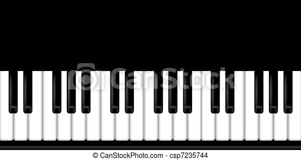 Piano Black And White Drawing Piano Keyboard Black And White