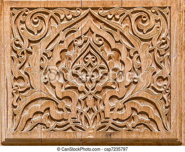 Stock Photo - art of wood carving. - stock image, images, royalty free ...