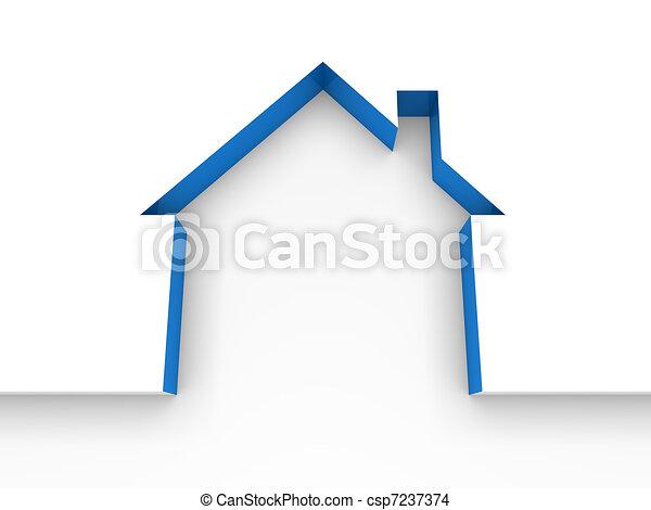 3d house estate blue - csp7237374
