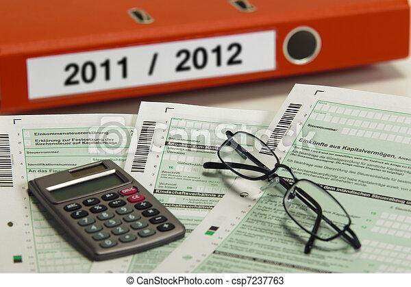 tax paper 2011 / 2012 - csp7237763
