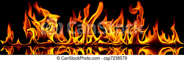 Fire and flames. - csp7238579