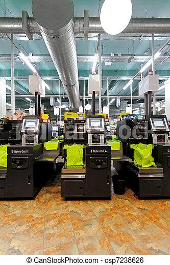 Self checkout machines - csp7238626