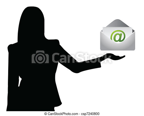 Business woman showing e-mail - csp7240800