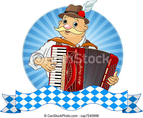 Oktoberfest Accordion Player - csp7240998