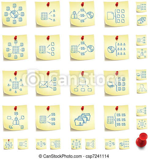 Sticker Icon Set - csp7241114