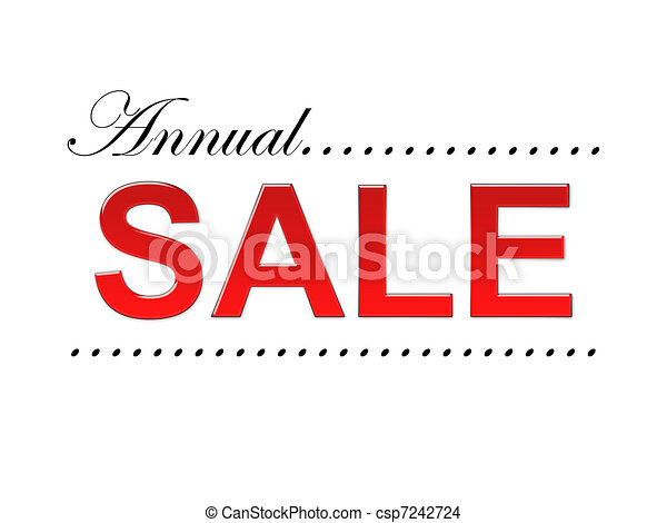 annual sale text - csp7242724