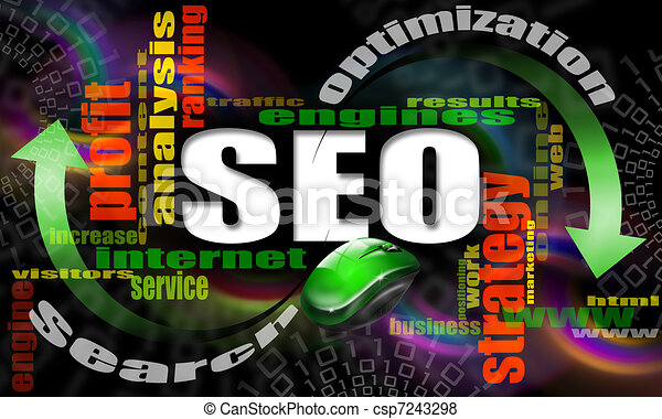 SEO engines strategy - csp7243298