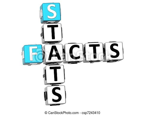 3D Facts Stats Crossword - csp7243410