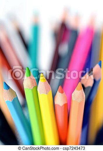Creative Color Pencil Background - csp7243473
