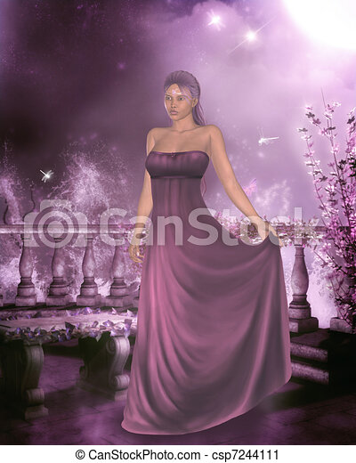 woman in a gown - csp7244111