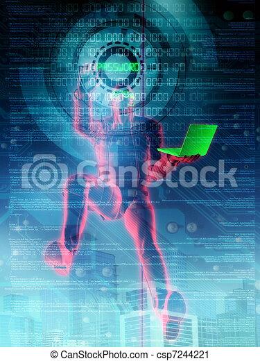 Hacker in Action - csp7244221
