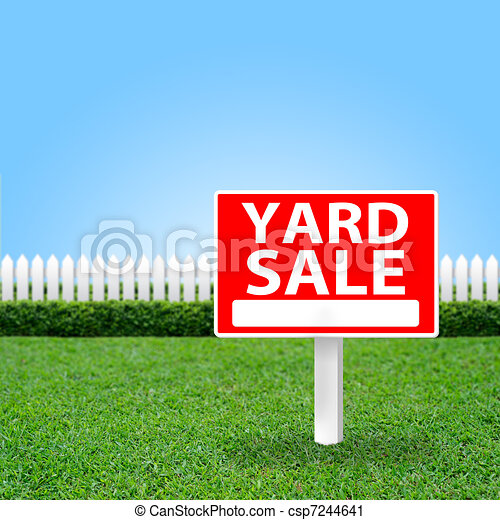 Yard sale sign - csp7244641
