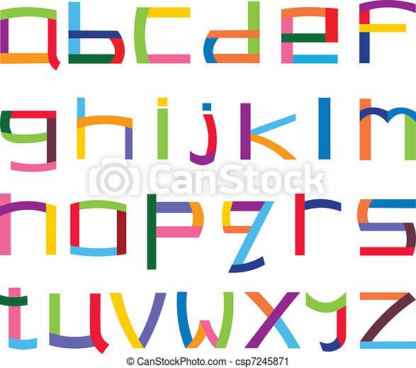 Colorful lower case alphabet - csp7245871