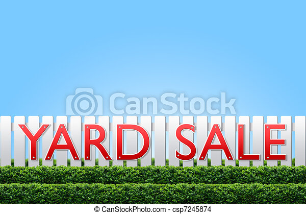 Yard Sale sign - csp7245874