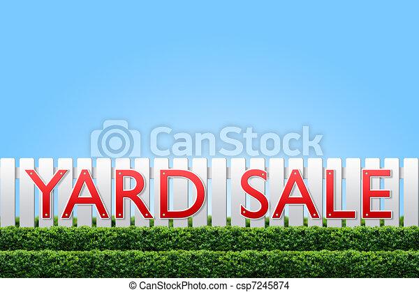 Yard Sale sign - csp7245874