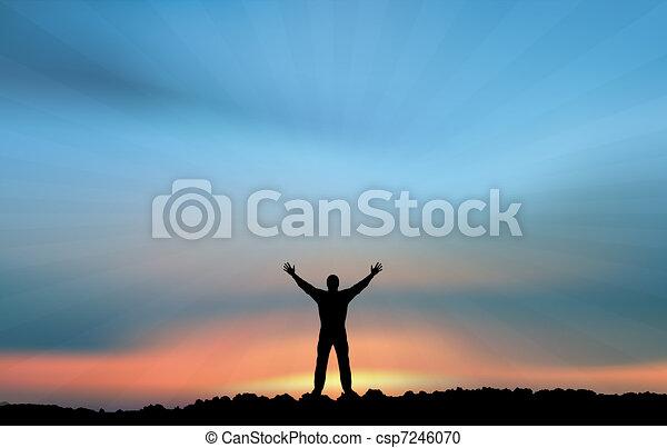 Man in the sunlight - csp7246070