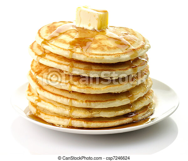 pancakes with butter  - csp7246624