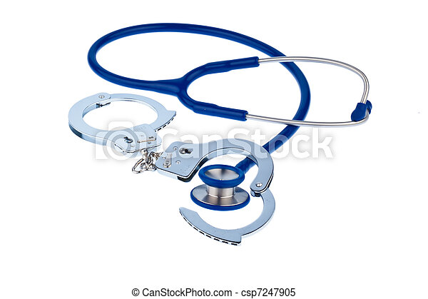 Cuffs and stethoscope - csp7247905