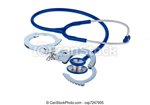 Cuffs and stethoscope - csp7247905
