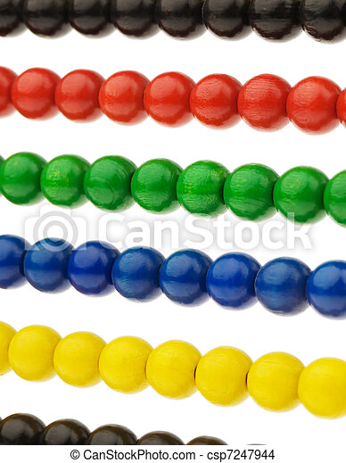 Abacus with colored beads - csp7247944