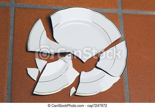 Stock Photo Of Broken Plates A Broken Plate Lying On A