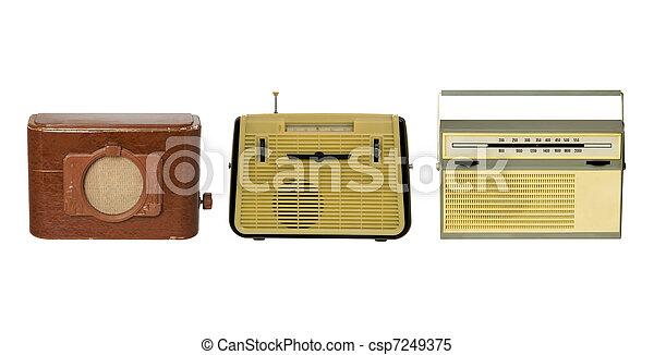 Three old fashioned radio-sets - csp7249375