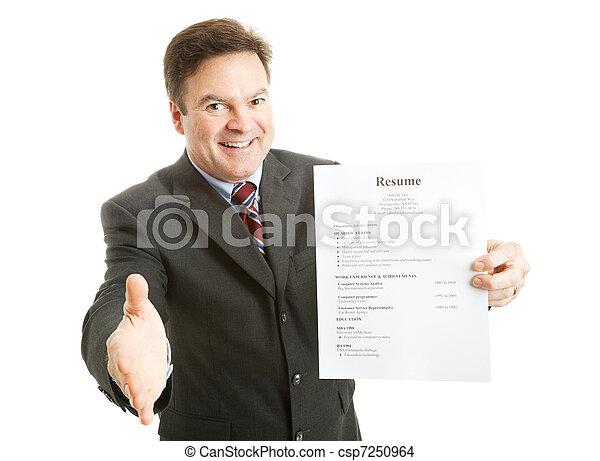 Confident Job Applicant - csp7250964