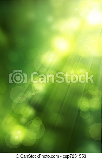 arte, verdes, natureza, primavera, abstratos, fundo - csp7251553