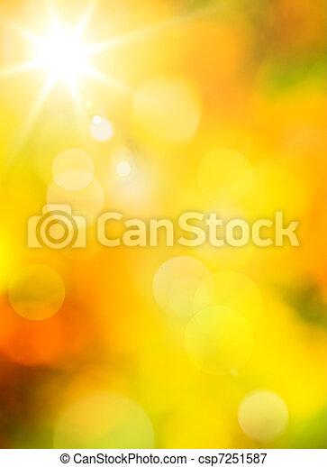 otoño, Extracto, arte, Plano de fondo - csp7251587